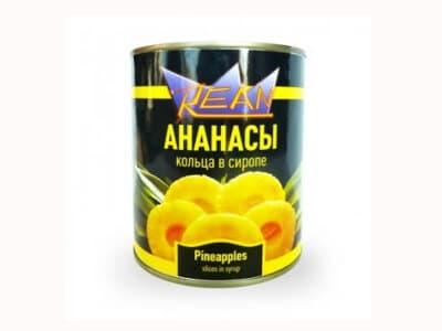 Ананасы REAN 850 мл.(шайба)