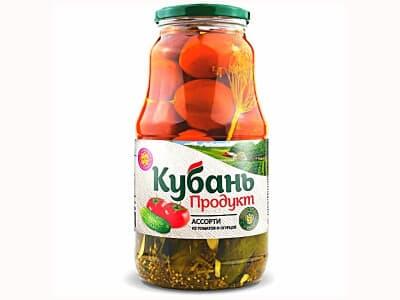 Ассорти Кубань (огурцы+ томаты)