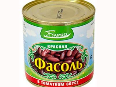 Фасоль красная в томатном соусе