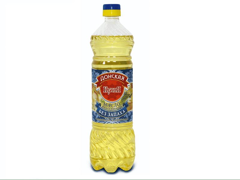Масло подсолнечное рафинированное растительное 0,9 мл (упаковка 15 шт)