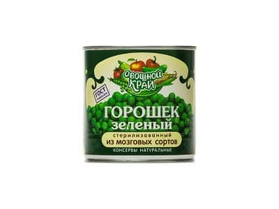 """Горошек зеленый """"Овощной край"""" 400 гр."""