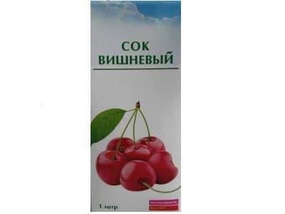 Сок вишневый 1 л. ( тетропак)