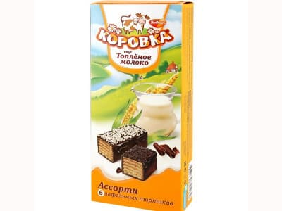 Торт Коровка топленое молоко
